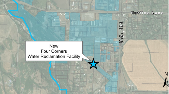 New Water Reclamation Facility location map